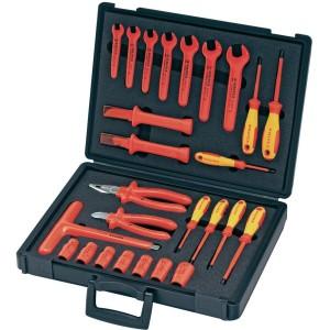 114759a6270ff4 Zestaw narzędzi Knipex Walizka na narzędzia ze sprzętem izolowanym 26 szt.  98 99 12